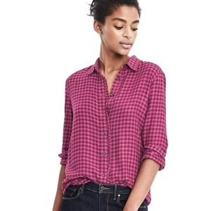 NWT banana republic plaid dillon shirt size L